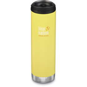 Klean Kanteen TKWide Bottle with Cafe Cap 592ml Vacuum Insulated buttercup